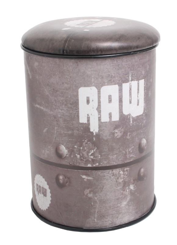 Multifunctional seat/storage barrel - Raw design BIG