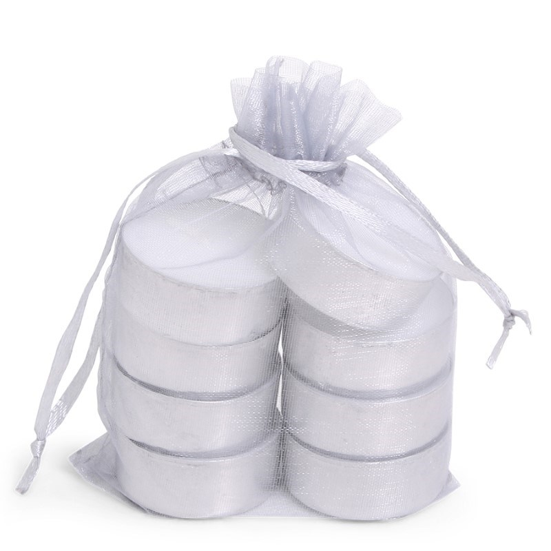 SENZA Organza Tealight Bag /8 Silver