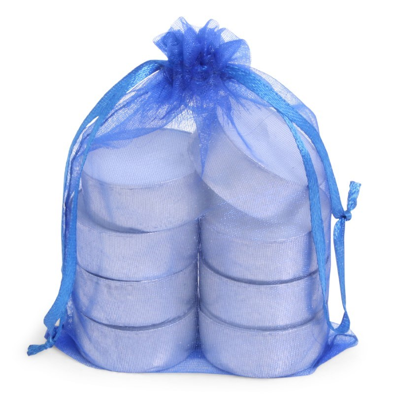 SENZA Organza Tealight Bag /8 Blue