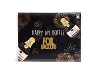 SENZA Foil Balloon Happy NY Champagne XL