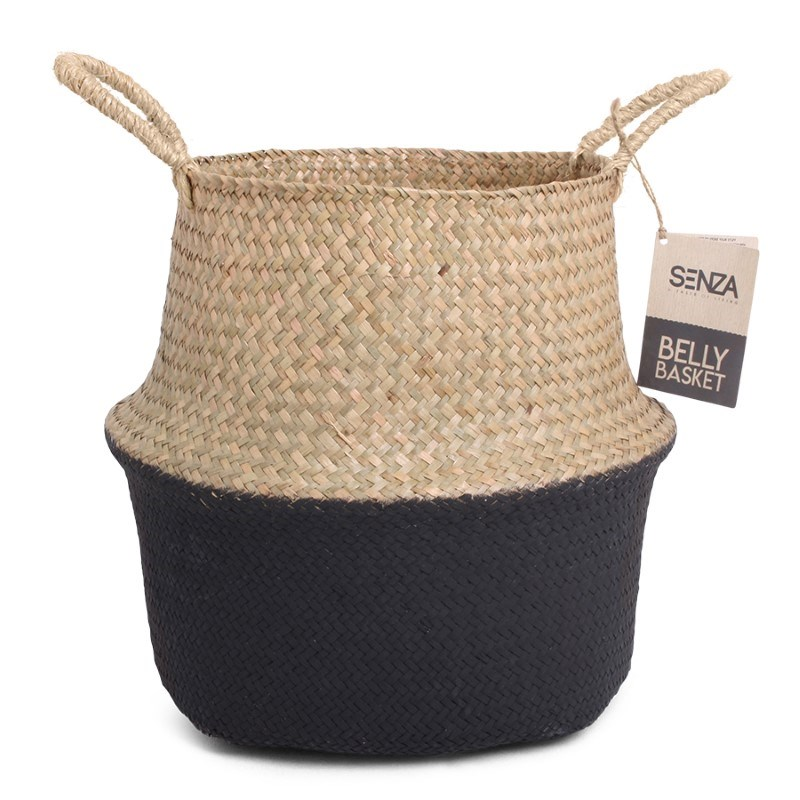 SENZA Belly Basket Natural/Black