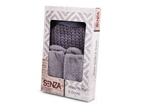 SENZA Water Bottle & Socks Deluxe Grey