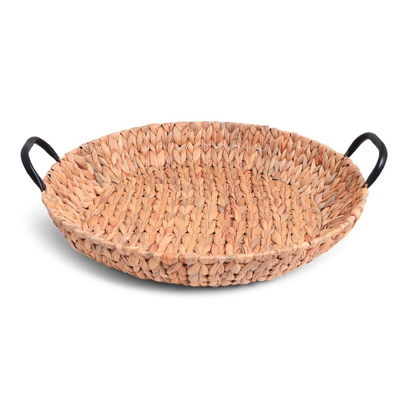 SENZA Hyacinth Shallow Basket with Handles XL