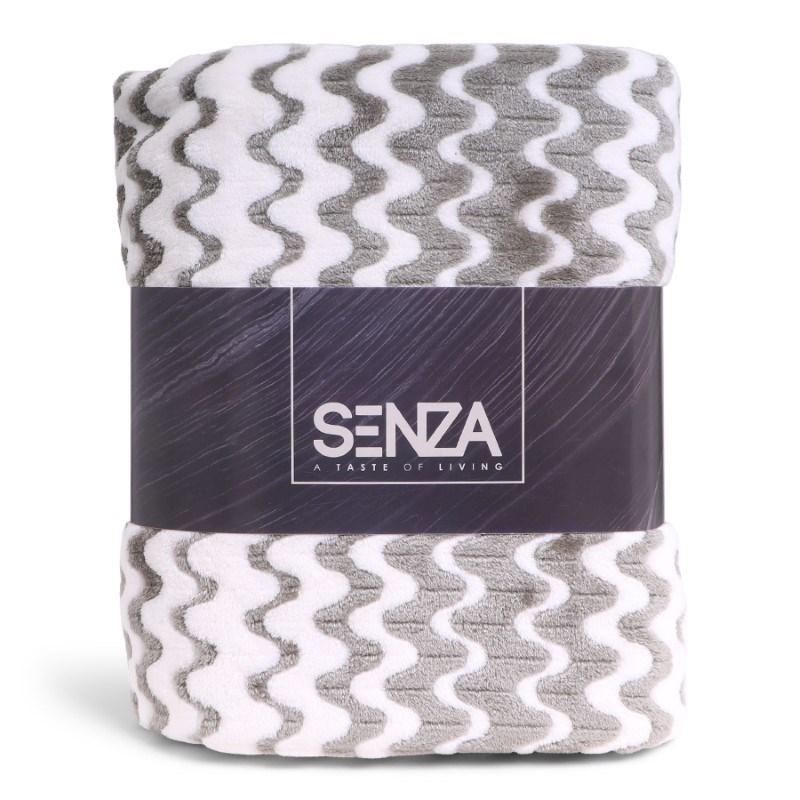 SENZA Waves Blanket White/Green