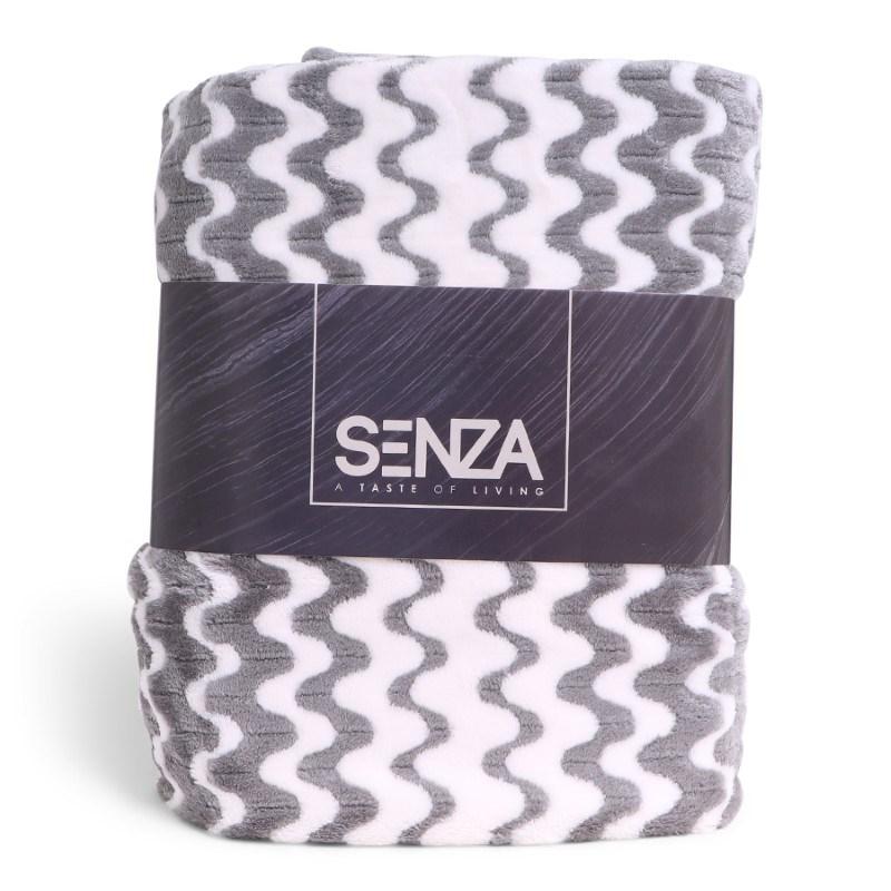 SENZA Waves Blanket White/Grey