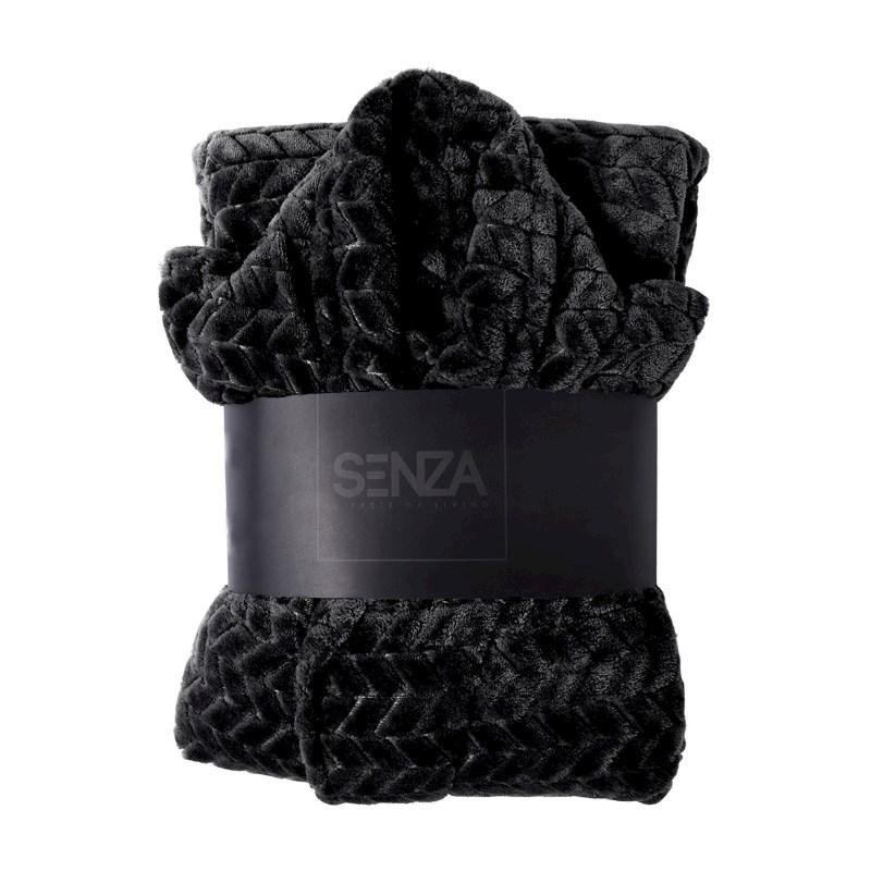 SENZA Fishbone Bathrobe Black