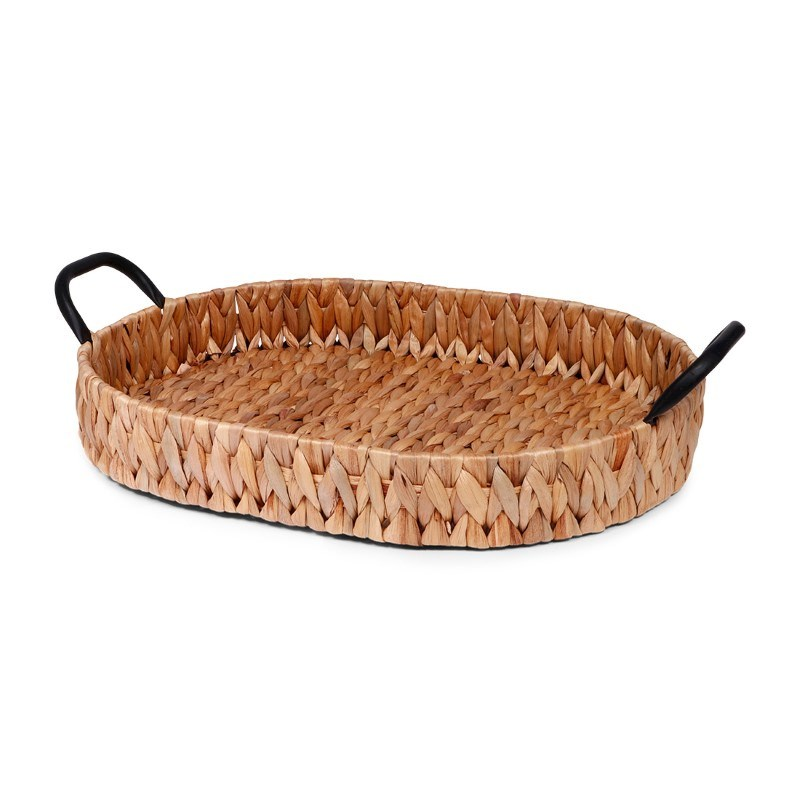 SENZA Oval Hyacinth tray with handles Large