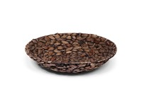 SENZA Hyacinth Shallow Basket Dark brown