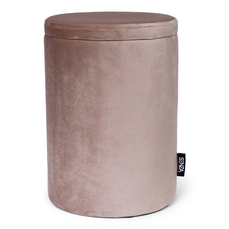 SENZA Velvet Storage Pouffe Taupe