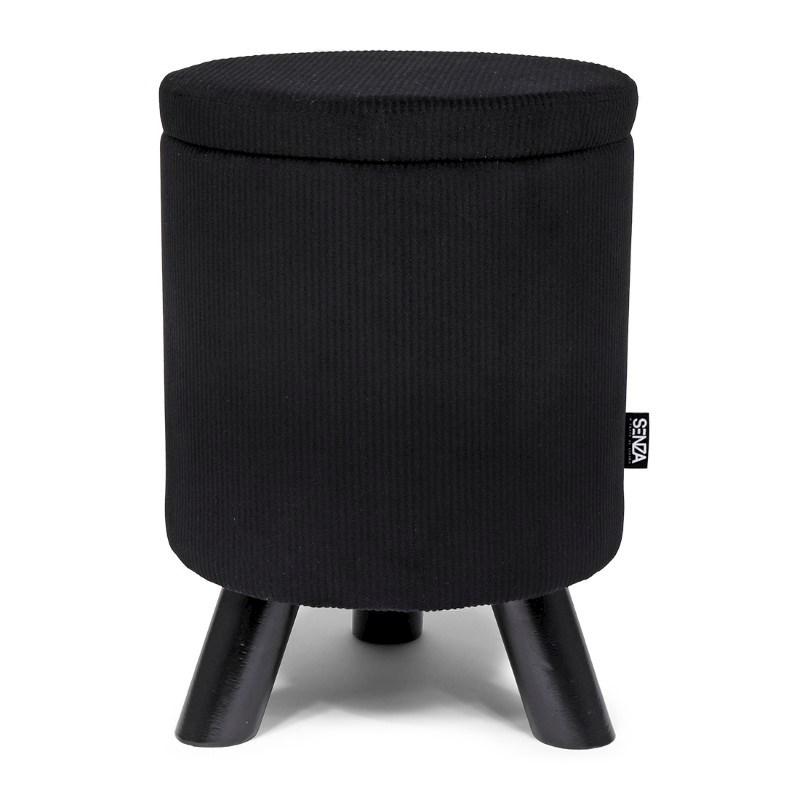 SENZA Ribble Storage Pouffe Black