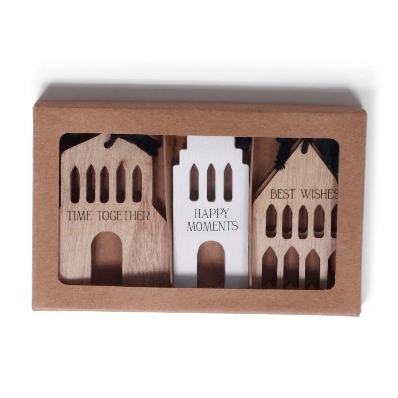 SENZA Wooden Christmas hangers