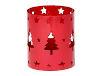 Tealight Holder Xmas Tree Red