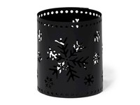 Tealight Holder Snowflake Black