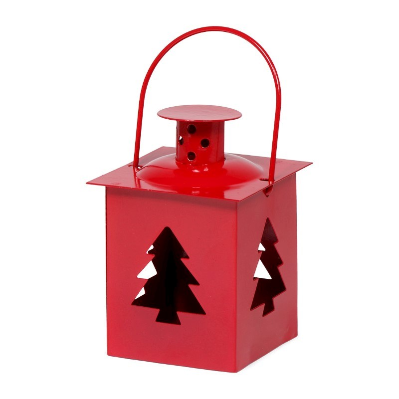 Tealight Lantern Xmas Tree Red