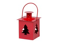 Tealight Lantern Xmas Tree Red