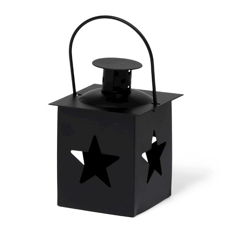 Tealight Lantern Star Black