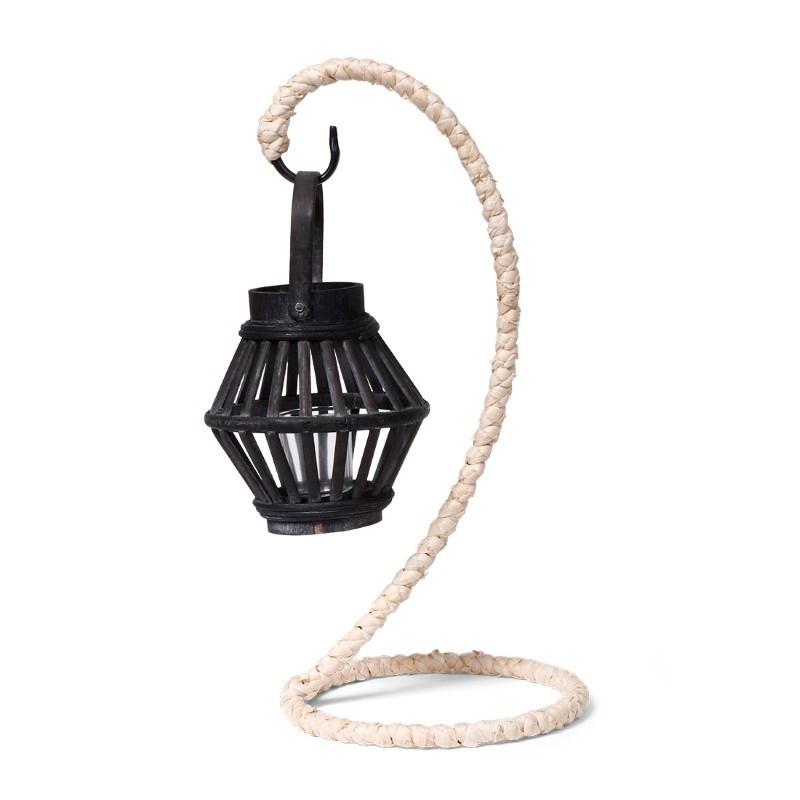 SENZA Bamboo Lantern Hanger Black