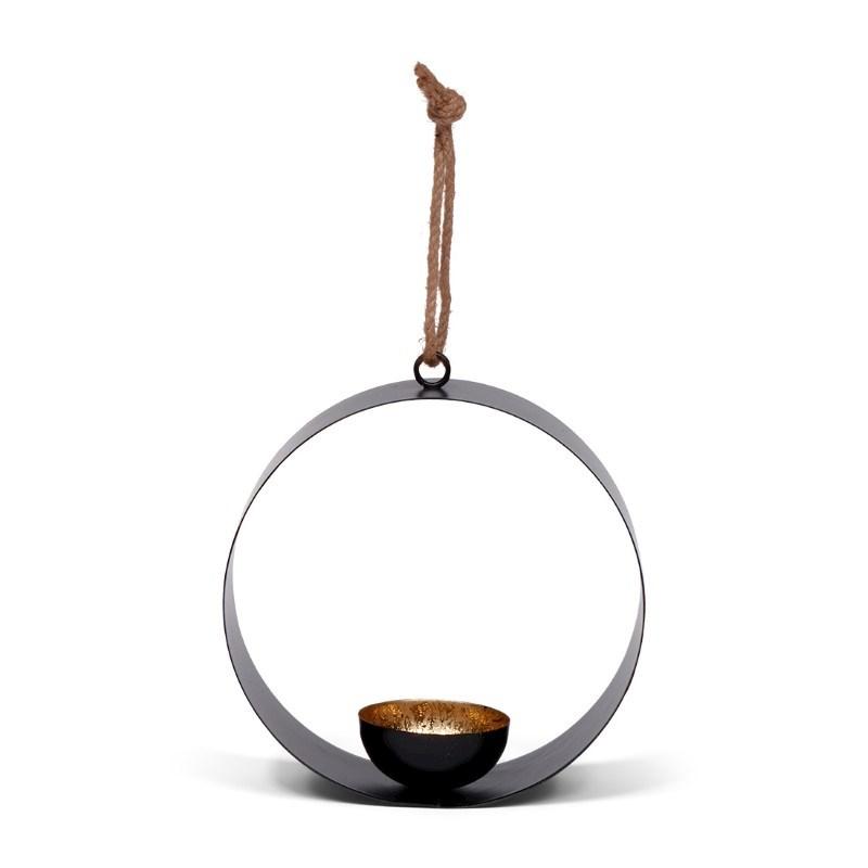 SENZA Round Tealight Hanger Gold