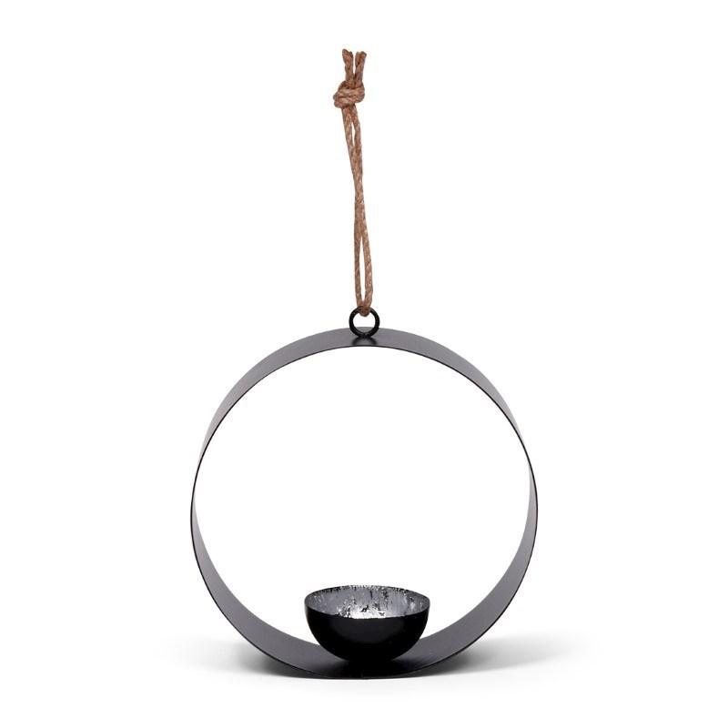 SENZA Round Tealight Hanger Silver