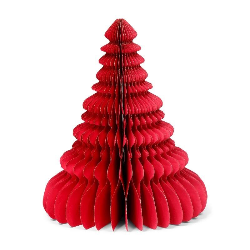 SENZA Paper Glitter Xmas Tree Red