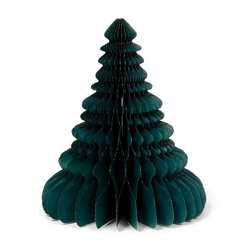 SENZA Paper Glitter Xmas Tree Green