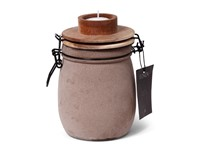 SENZA Candle Light Jar Sand with wooden lid