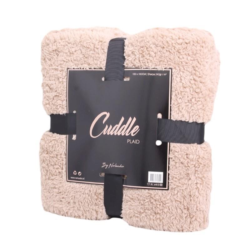 Norländer Cuddle Blanket Light Brown