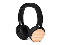 BRAINZ Bluetooth Headphone Bamboo