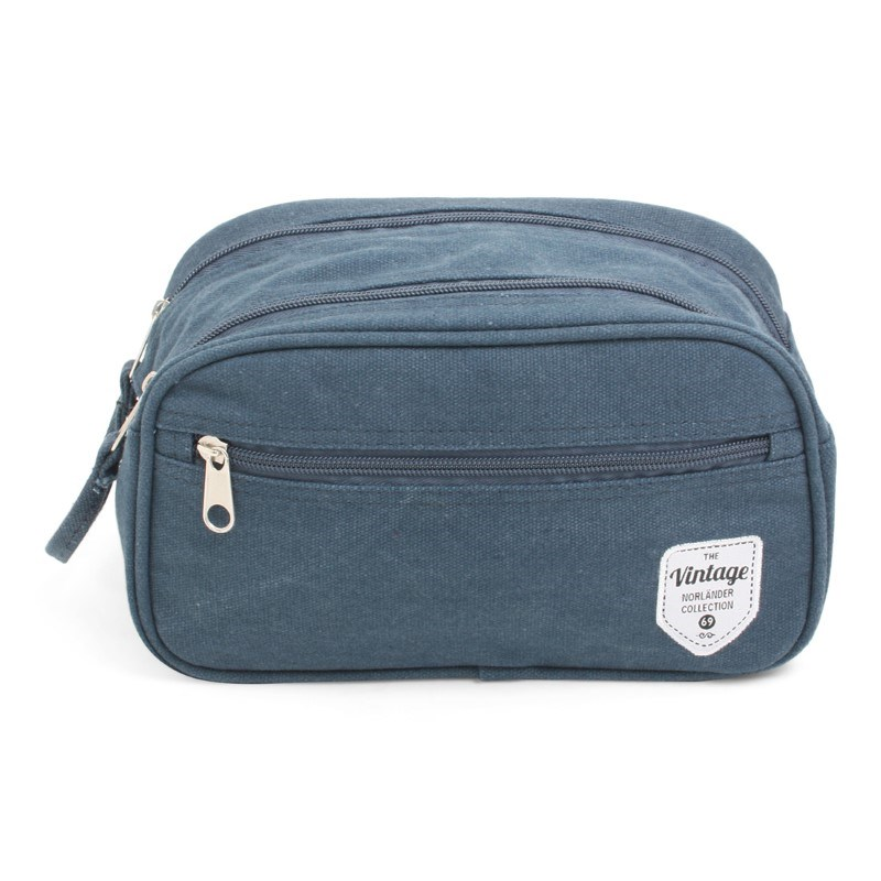 Vintage Canvas Cosmeticbag Blue