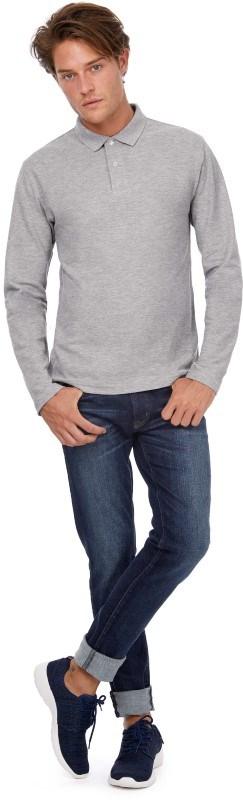 ID.001 Men's long-sleeve polo shirt