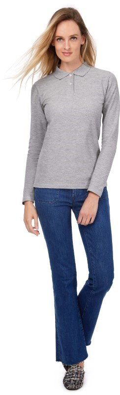 ID.001 Ladies' long-sleeve polo shirt