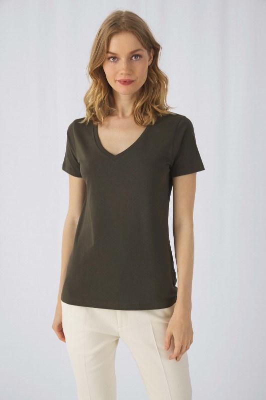 Organic Cotton Inspire V-neck T-shirt / Woman