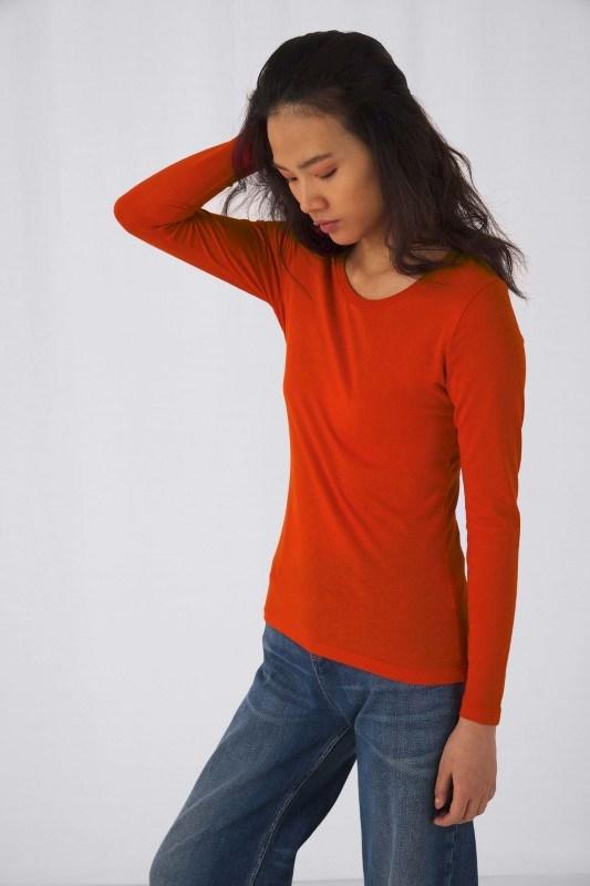 Ladies' organic Inspire long-sleeve T-shirt