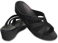Crocs™ Women's Sanrah Strappy Wedge Sandals