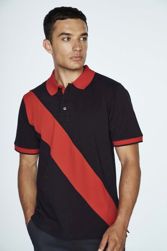 Diagonal Stripe Men's Polo Shirt