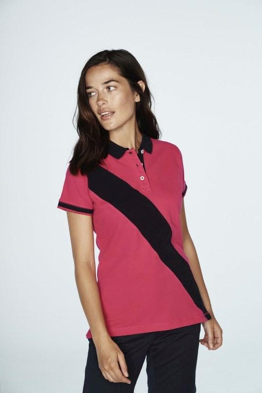 Diagonal Stripe Ladies' Polo Shirt