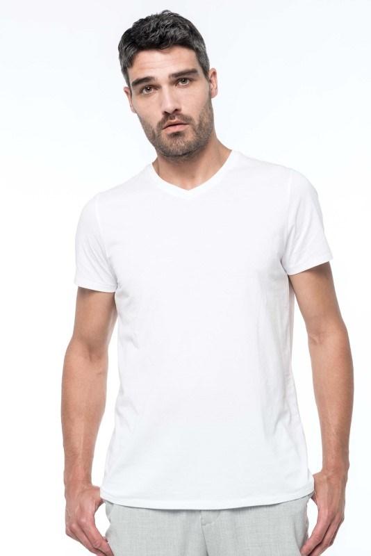 Heren-t-shirt Supima? V-hals korte mouwen