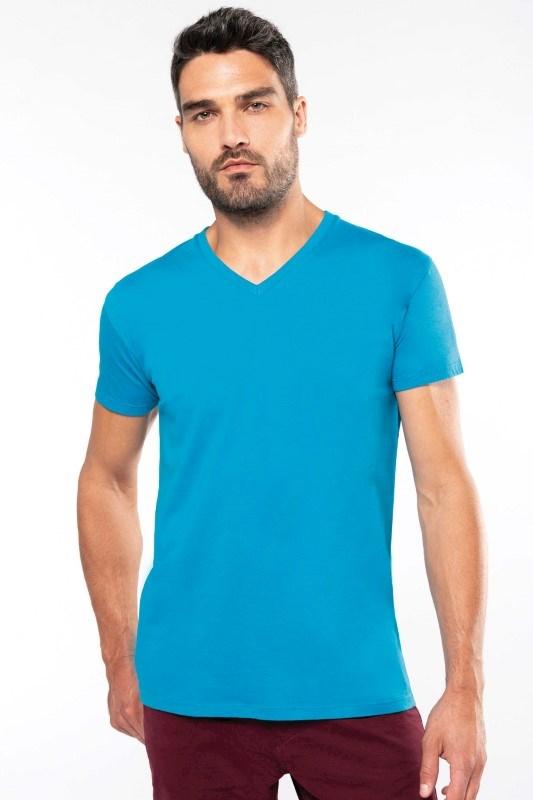 Heren-t-shirt BIO150 V-hals