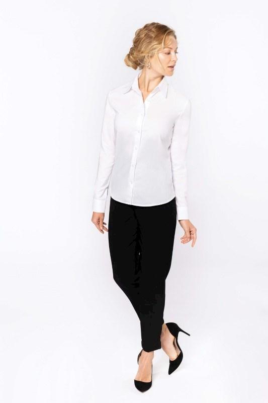 Dames oxford blouse lange mouwen