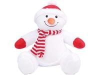 Knuffel met rits sneeuwman