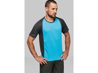 Tweekleurig sport-t-shirt unisex