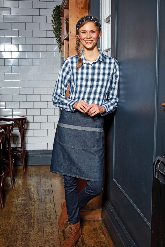 Domain - Contrast denim waist apron
