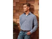 Men's long sleeve microcheck gingham shirt
