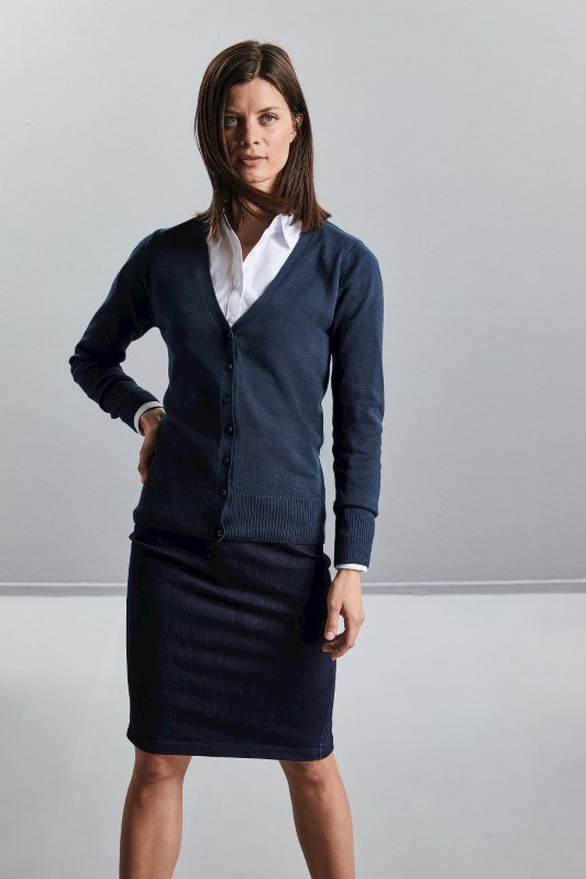 Ladies' V-neck Knitted Cardigan