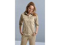 Ladies' Roll Sleeve Shirt - 3/4 Sleeve