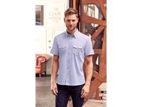 Men's Roll Sleeve Shirt - Short Sleeve