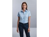 Ladies Short Sleeve Herringbone Shirt