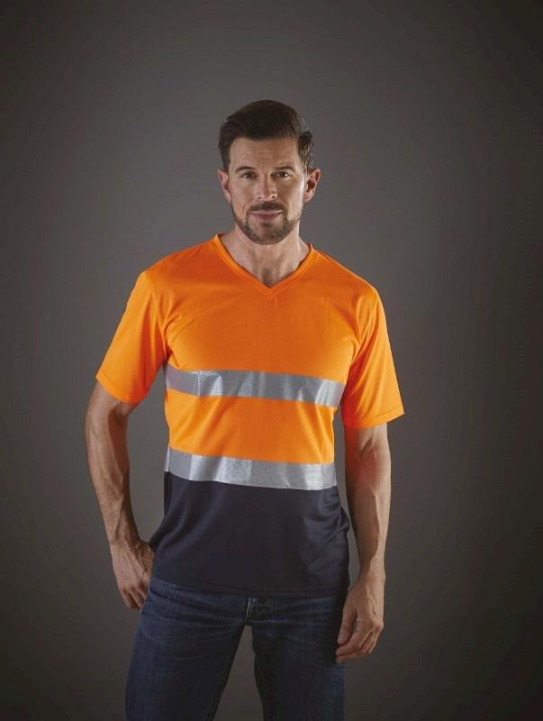 Top Cool - Hi-Vis T-shirt V-hals