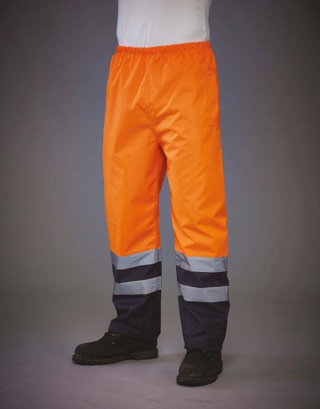 Hi vis waterproof over trousers