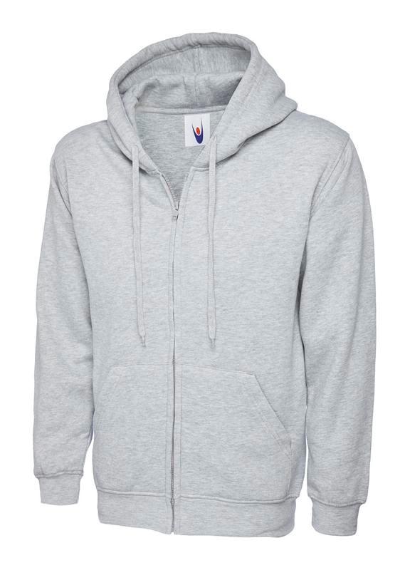 Uneek Adults Classic Full Zip Hooded Sweatshirt UC504